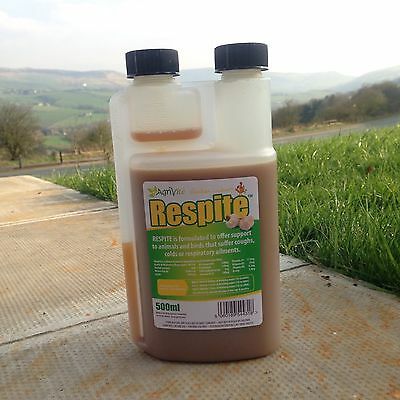 RESPITE TREATMENT FOR COUGHS & COLDS CHICKEN POULTRY PIGS 500ml