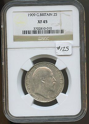 G. Britain 1909 2S (#125) NGC XF45. Scarce in Higher Grades. Carefully Check