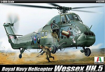 Academy ITALERI 1/48 Plastic Model Kit WESSEX UH.5 Royal Navy Helicopter 12299