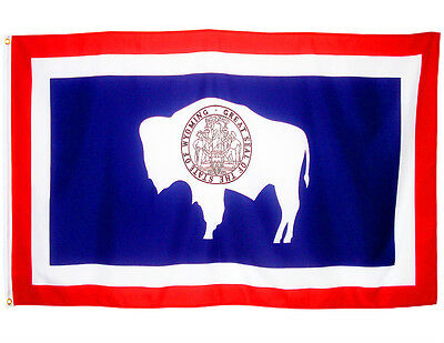 Fahne Wyoming Querformat 90 x 150 cm U.S.A. Hiss Flagge Bundesstaat USA