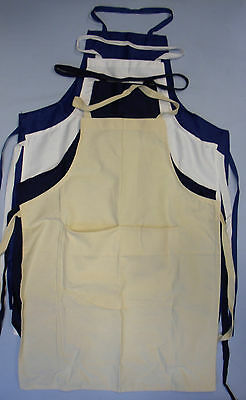 Childrens Kids School Cooking Craft Apron Front Pocket Baking Plain Kitchen Navy