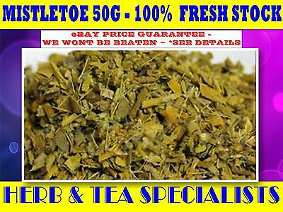 MISTLETOE 50G Viscum album☆HERBAL☆REMEDY☆DRIED HERB☆ PREMIUM STOCK