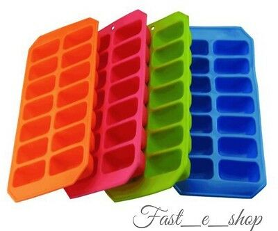 Silicone Soft Splash Ice Cube Tray Flexible With Various Colour, By Apollo. 1x