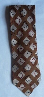 STUDIO 1100 squares textured silk tie S30 vintage 70s Hand Made in Italy