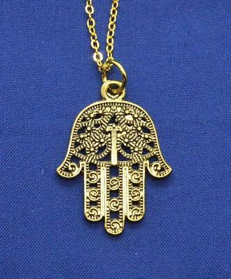 Hamsa Amulet Hand of God pendant necklace Kabbalah protection from Israel