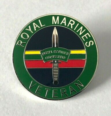 Royal Marines Veteran Lapel Pin Or Walking Stick Mount
