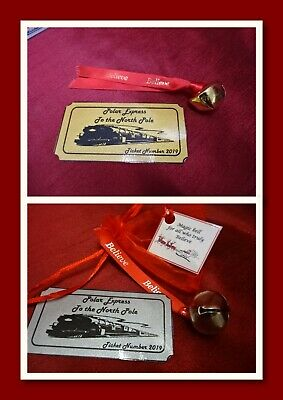 Believe Polar Express jingle bell silver or gold free train ticket cracker gift