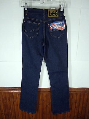 NWT Dead Stock Lee Rider Jeans Straight Leg indigo rigid denim boys 14S 24x30