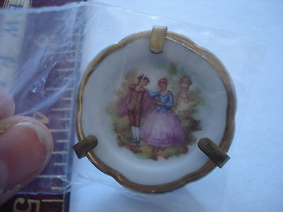 Limoges butter pad small dish Limoge France miniature plate white