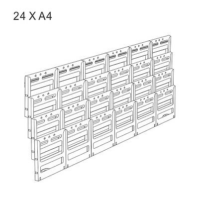 24 X A4 - Wall Mount Brochure Holder Display Unit
