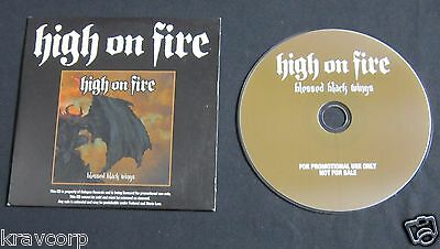 High On Fire 'Blessed Black Wings' 2004 Advance Cd
