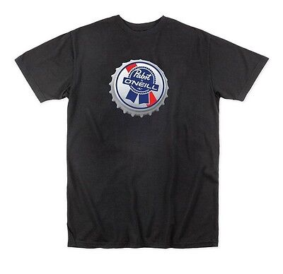 NEW O'Neill PBR Pabst Blue Ribbon Bottle Cap  T-Shirt