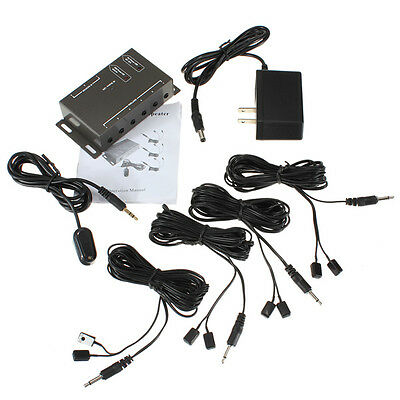 Infrared Remote Extender 8 Emitters 1 Receiver Hidden IR Repeater System Kit DC