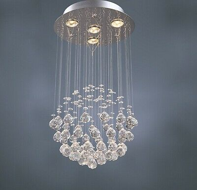 Vepower MD808-4 K9 Crystal Chandelier with 4 Lights in Globe Shape, Pendant led