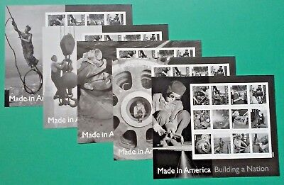 Set of 60 (5 x 12) MADE IN AMERICA BUILDING A NATION US Forever Stamps #4801 A-L