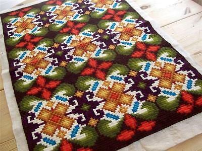 """NEW SUPERB LARGE NORWEGIAN WOOL 35"""" TABLE TOPPER & WALL NORWAY"""