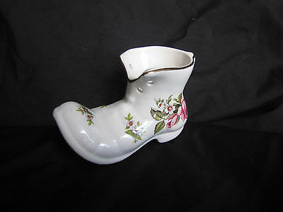 OLD FOLEY HARMONY ROSE CERAMIC SHOE / BOOT PLANTER BY JAMES KENT MADE IN ENGLAND