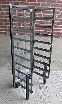 Vintage Bread Rack/Cart - Magnesium - Collapsable - Two Wheel Rolling