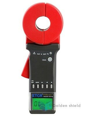 ETCR2100+ Clamp Ground Earth Resistance Tester Meter 0.01-1200Ω Φ32mm