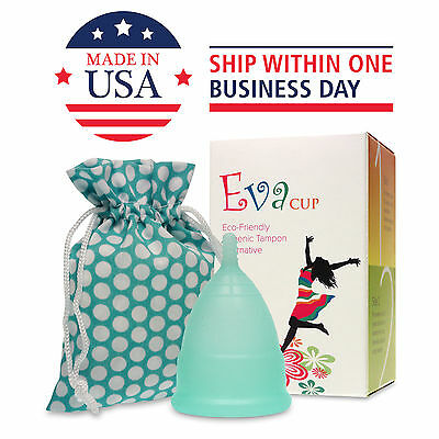 Anigan EvaCup (Made in USA - FDA Registered) Menstrual Cup - Blizzard Blue SALE