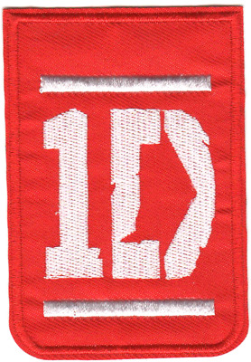 One Direction 1D - Embroidered Iron-On or Sew On Patches 6cm x 9cm Applique