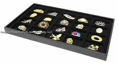 Lot of 2 Black 20 Space Black Jewelry Pin Brooch Medals Display Trays