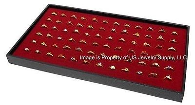 1 Burgundy 72 Ring Display Storage Stackable Tray