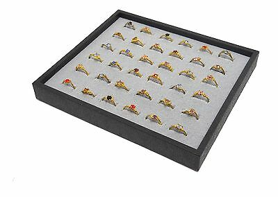 1 Grey 36 Ring Display Storage Stackable Tray