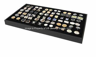 1 Large Cufflinks Storage Display Black Stackable Tray