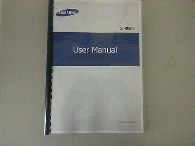 SAMSUNG GALAXY S4  GT- i9505 PRINTED INSTRUCTION MANUAL USER GUIDE 147 pages