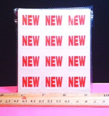 Pack Of 500 Removable New Labels Stickers! Below Wholesale Retail Store Supplies