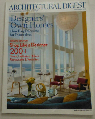 Architectural Digest Magazine Designers' Own Homes September 2010 101014R1