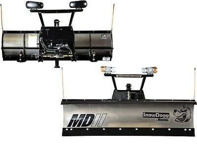 """Buyers New 7'5"""" MD Snow Dogg Snow Plow w/Wiring, Mount & Hareware"""