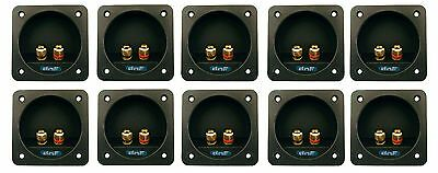 10 Pack Speaker Box Terminal Square Cup Connector Subwoofer Enclosure Wire