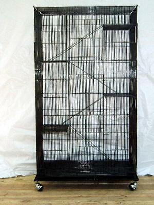 Large 5 Level Squirrel Sugar Glider Small Animal or Bird Cage #705 Black 976