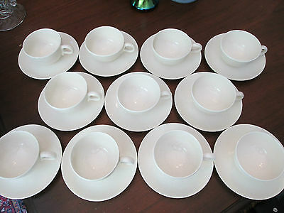 LOT of 11 CUPS & SAUCER! Vintage TAYLOR SMITH TAYLOR: PEBBLEFORT MARBLE pattern!