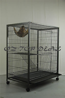 Canary Bird Parrot Cage Aviary Ferret Cat Budgie Hamster Crate House With Castor