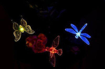 Solar Wholesale KY5001 Solar Lawn Lights with Hummingbird, Dragonfly and Butterf