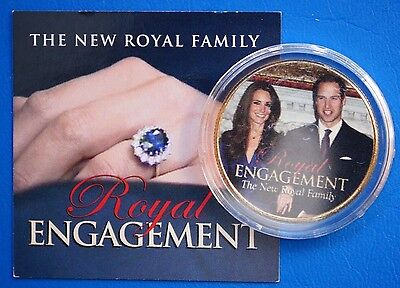 British Royal Engagement on US JFK Half Dollar US 24K Gold Plated Coin