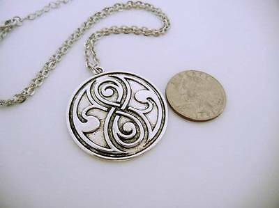 Doctor Who Seal of Rassilon Silver toned Necklace