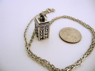Antique TARDIS Police Box 3D Pendant Dr Who Necklace WHOVIAN Cosplay