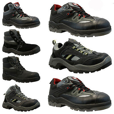 New Mens Ladies Work Safety Steel Toe Cap Work Hiker Boots Shoes Trainers Size