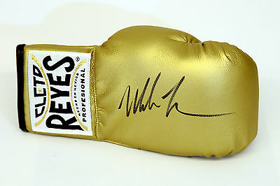 New Mike Tyson Signed Gold Cleto Reyes Autograph Boxing Glove