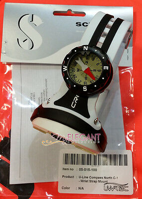 Scubapro Scuba Dive Diving Underwater Mini U-Line Compass C-1 Wrist Strap Mount
