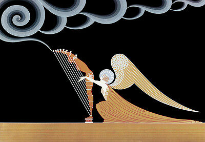 The Angel  by Erte  Giclee Canvas Print Repro