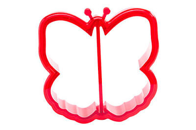 ButterflyBytes Kids Sandwich Bread Crust Cutter Butterfly Cookie Cutter - Red