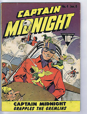 Captain Midnight #4 Fawcett Pub 1943