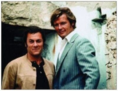 THE PERSUADERS ROGER MOORE & TONY CURTIS Fridge magnet GIANT SIZE - REDUCED