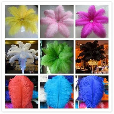 Wholesale 5-100pcs of natural ostrich feathers 6-24inch / 15-60cm white feathers