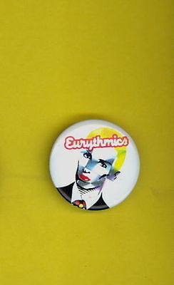 Eurythmics Button Pin Badge Vintage 1984 Prism Foil Annie Lennox Uk Import